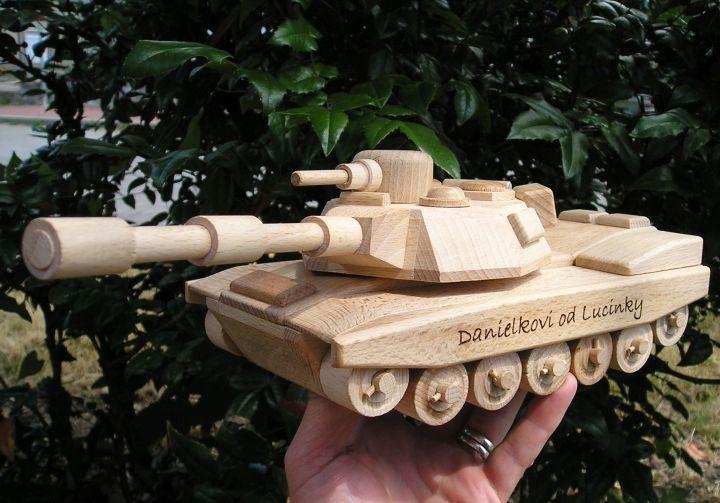 US-Holztank Abrams, Holzspielzeug