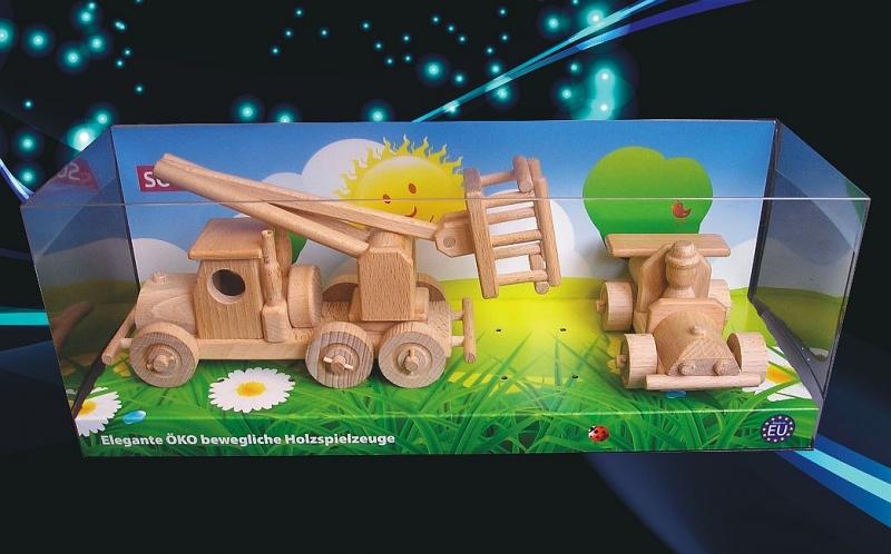 Montageplattform, LKW-Plattform Spielzeugauto Holzspielzeug für Kinder
