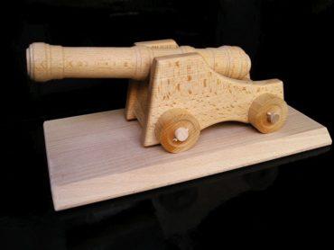 Militärfeldkanone, Kanone Holzspielzeug Geschenke für Fahrer