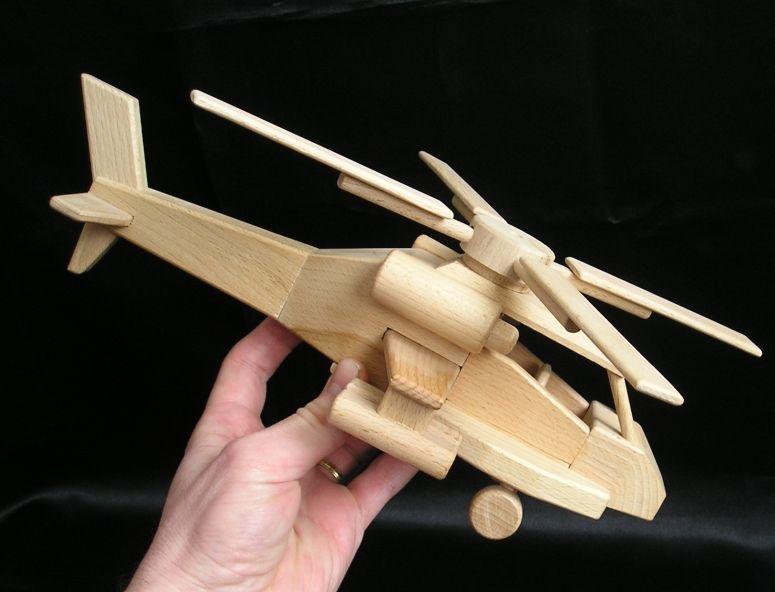 Kampfhubschrauber, Apache Hubschrauber Holzspielzeug, Geschenke für Kinder und Piloten