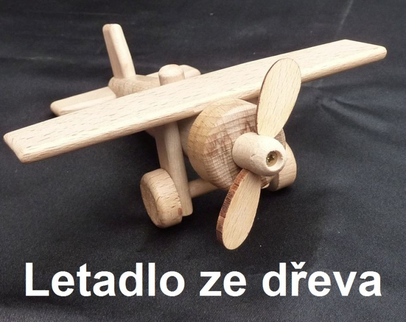 Kinderflugzeug aus Holz – Holzspielzeug