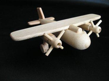Holzflugzeug für Kinder Holzspielzeug Flugzeuge