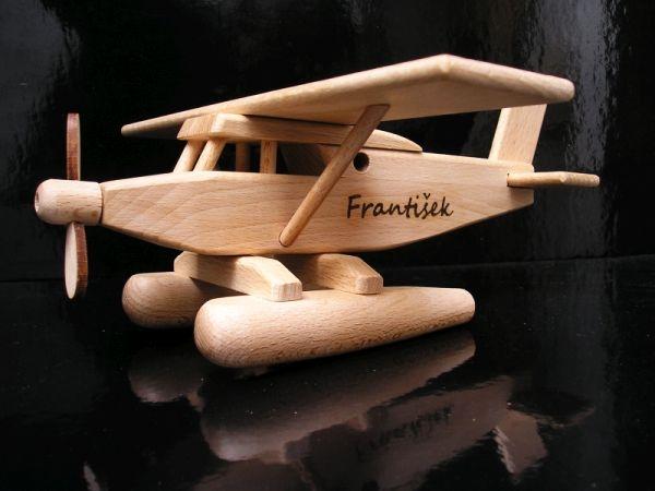Wasserflugzeug – Holzflugzeug Holzspielzeug Geschenke für Piloten