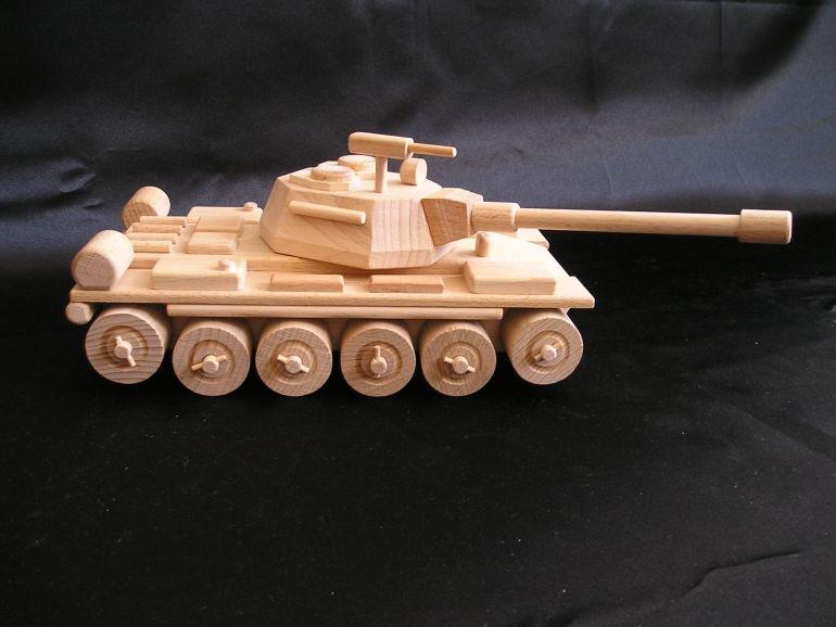 Russisches Panzer T72 Holzspielzeug, mobil