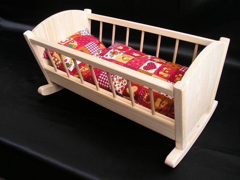 Schaukelwiege für Puppen Holzspielzeug für Kinder