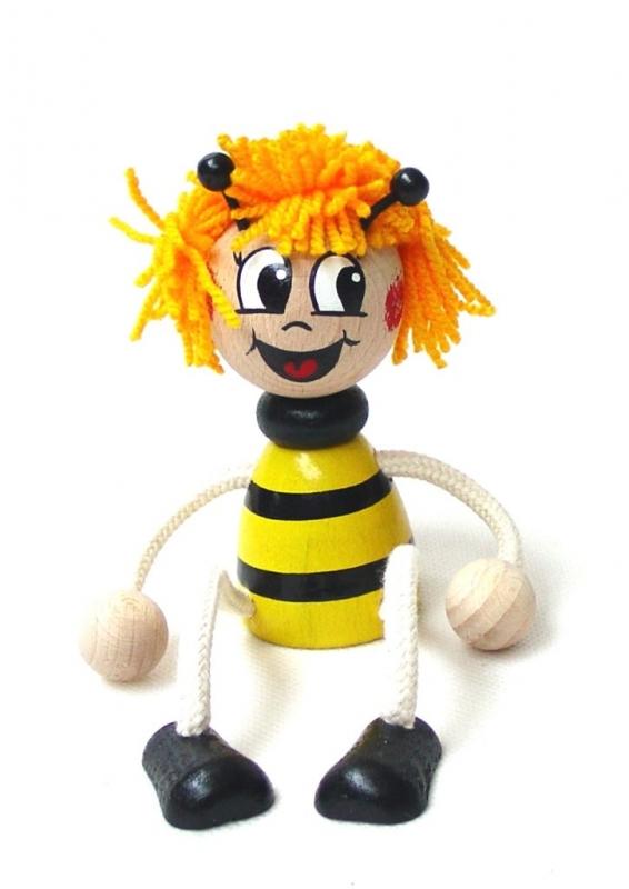 Biene – Maya Spielzeug – auf einer Feder Holzspielzeug