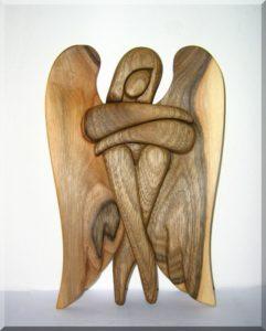 Statuette aus Engelsmaterial ORECH. 24 cm