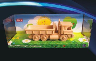 LKW Holzspielzeug mit einem Kippbehälter Holzlastwagen mit einem Behälter Holzlastwagen mit Container Holzlastwagen mit Container Holzspielzeug