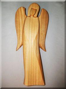 Statuette Engel B, Material Kirsche, h. 21 cm