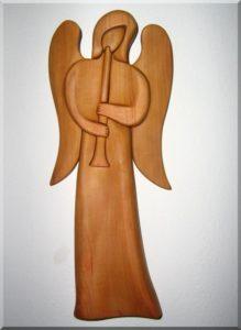 Statuetten, Engel mit Trompete II. 24 cm