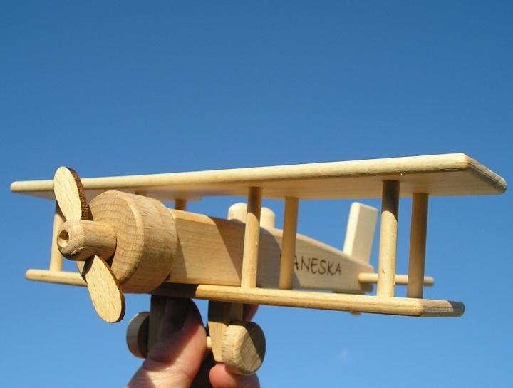 Großer Doppeldecker Holzspielzeug