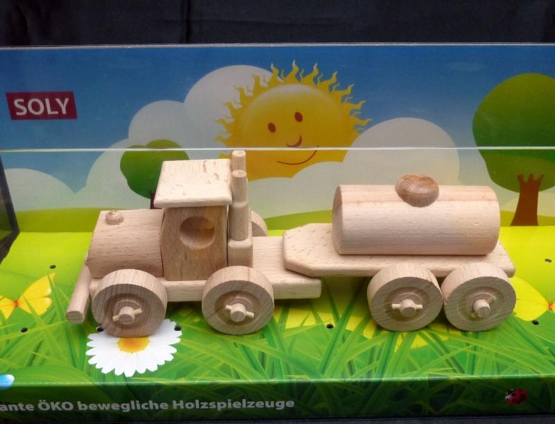 Tankwagen, Holzlastwagen Holzspielzeug