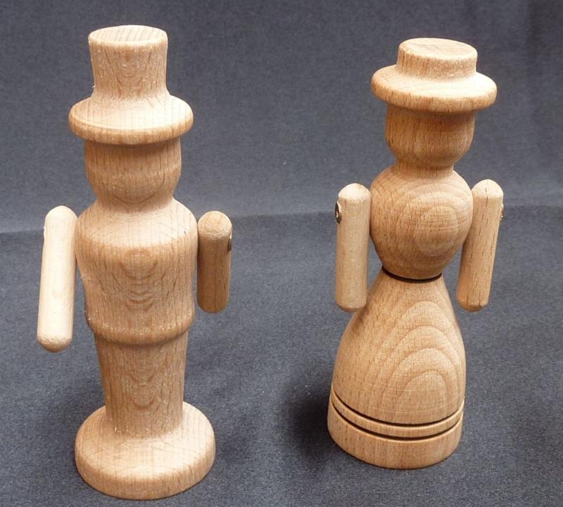 Vater und Mutter, Holzfiguren, Spielzeug