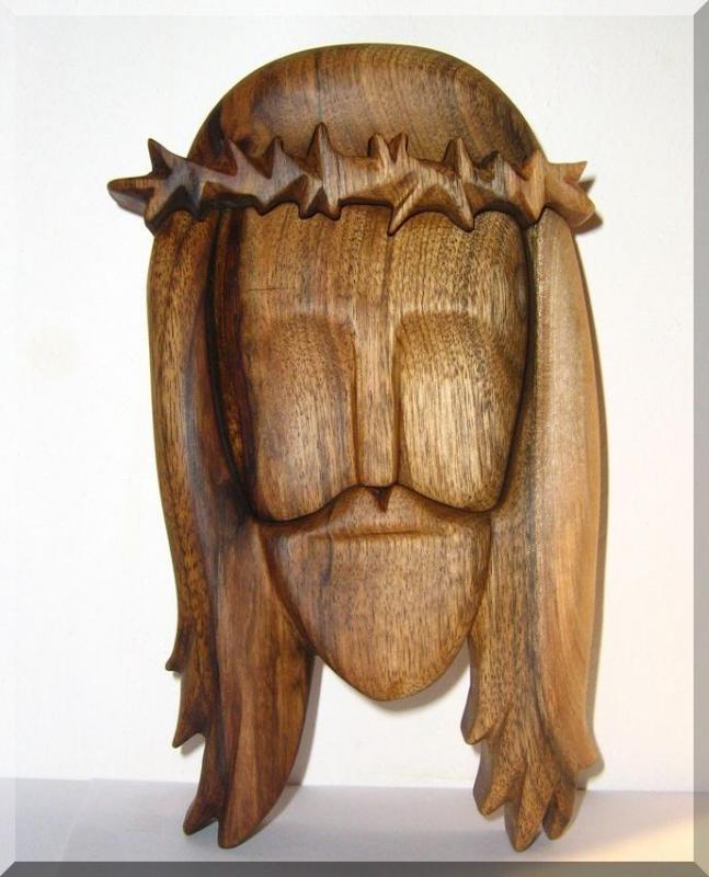 Statuette, Statue, Jesus Christus aus Holz, Holzskulptur Skulptur