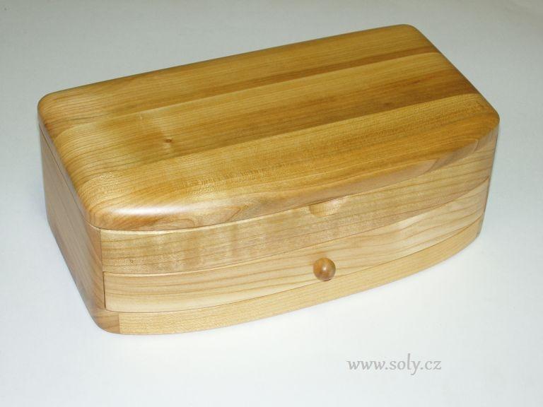 Schmuckschatulle mit Schublade NATUR Holz Licht Schmuckschatulle