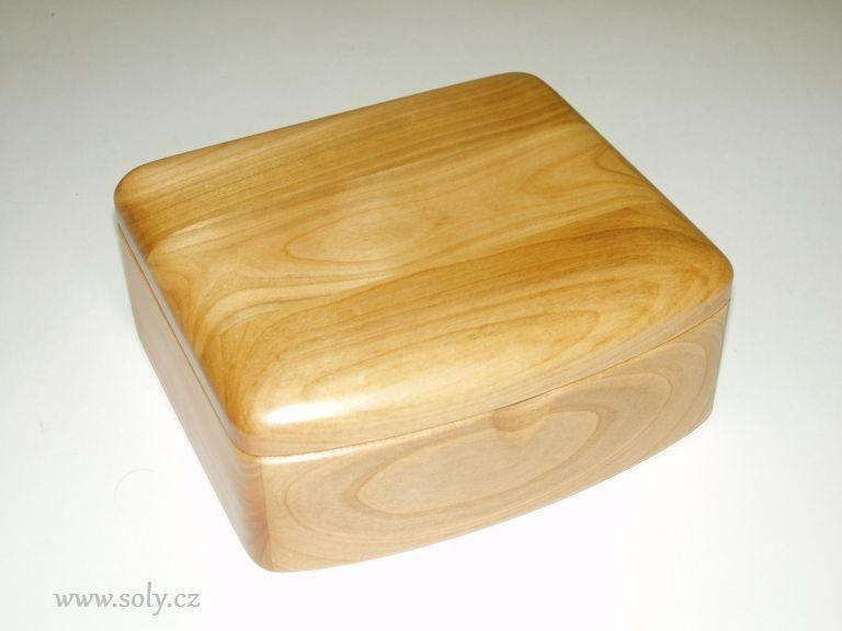 Schmuckschatulle aus Holz, helles Holz und Schmuckschatulle