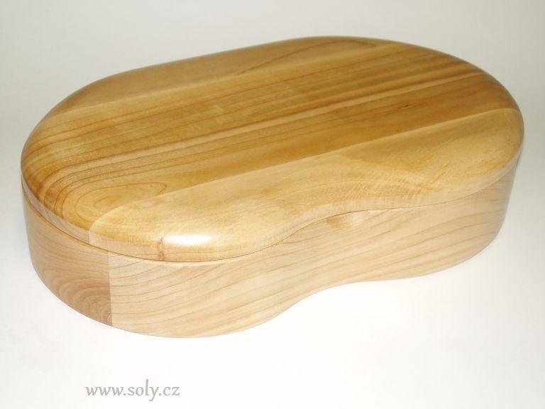Schmuckschatulle Holzform Niere