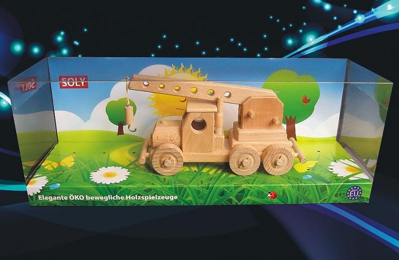 Kran, LKW-Kran Holzspielzeug Holzgeschenk