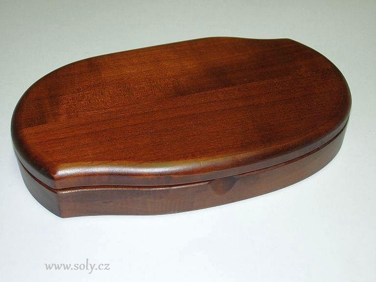 Schmuckschatulle aus dunklem Holz