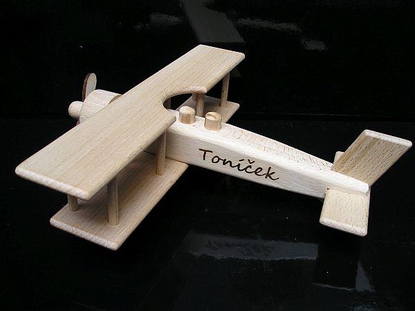 Holzflugzeug Doppeldecker