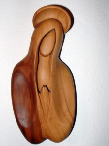 Jungfrau Maria Holzfigur - Büstenstatuette
