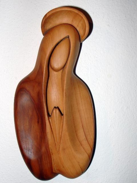 Jungfrau Maria Holzfigur – Büste Figur
