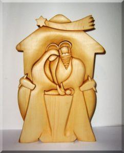 Bethlehem Krippe aus Holz. Statuette
