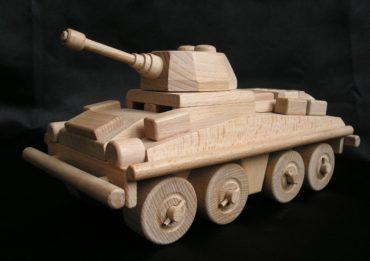 Transportertank Holzspielzeug militärische Geschenke für Fahrer
