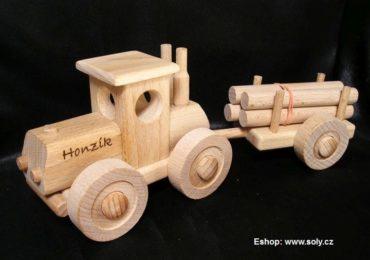 Hölzerner Spielzeugtraktor Holzgeschenke