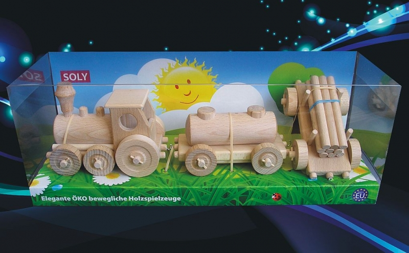 Hölzerne Spielzeugeisenbahn für Jungen Holzspielzeug