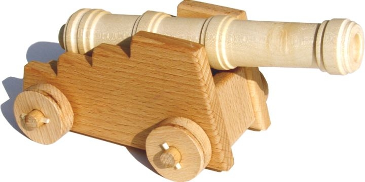 Historische Kanone, Holzkanone – Holzspielzeug