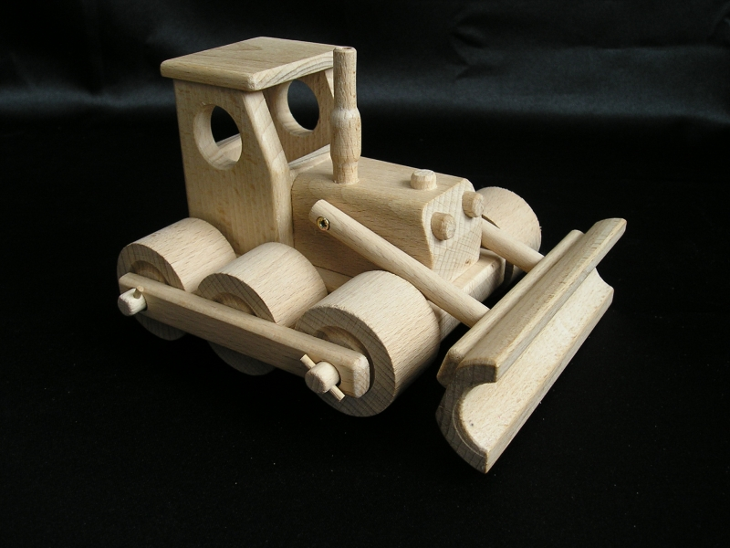 Bulldozer – Holz, Spielzeug