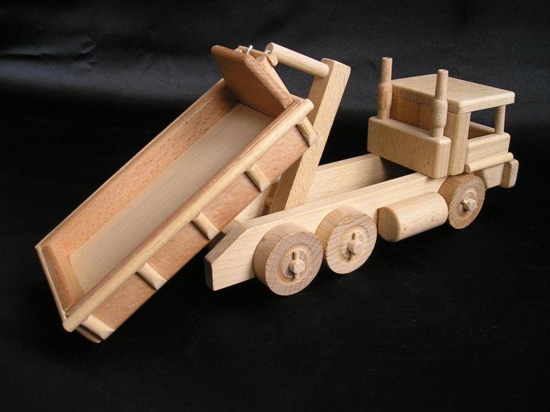 Containerwagen Holzspielzeug, LKW