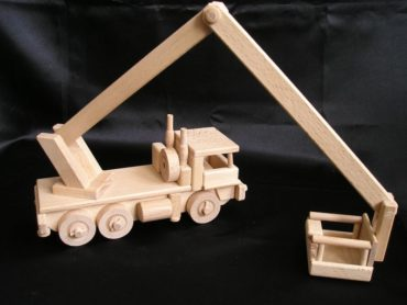 LKW-Plattformen, Hebebühnen Holzspielzeug Geschenke für Fahrer