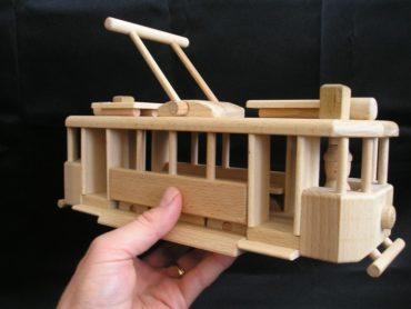 Straßenbahnen Holzgeschenke für Fahrer, Holzspielzeug