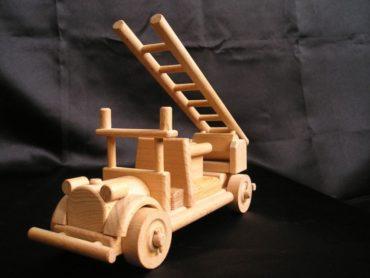 požiarne vozidlo | auto na podstave | drevené darčeky pre hasičov|Hasičské