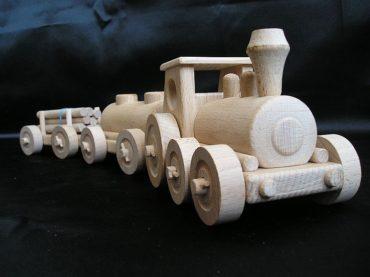 Holzzug Holzspielzeug Geschenke für Fahrer