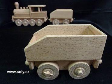 Holzwagen für Spielzeuglokomotive, Zug