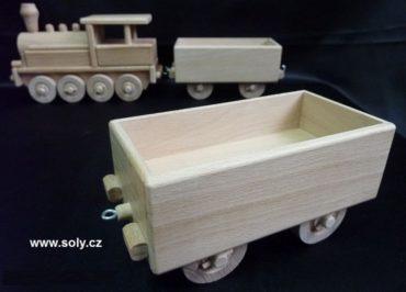 Güterwagen für Dampflokomotive Holzspielzeug