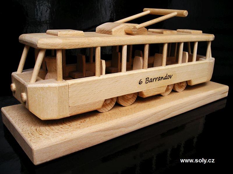 Straßenbahn – Holzspielzeug Geschenke für Straßenbahnfahrer