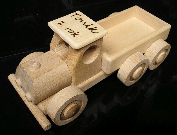 Kleiner Lastwagen Holzspielzeug Geschenk aus Holz