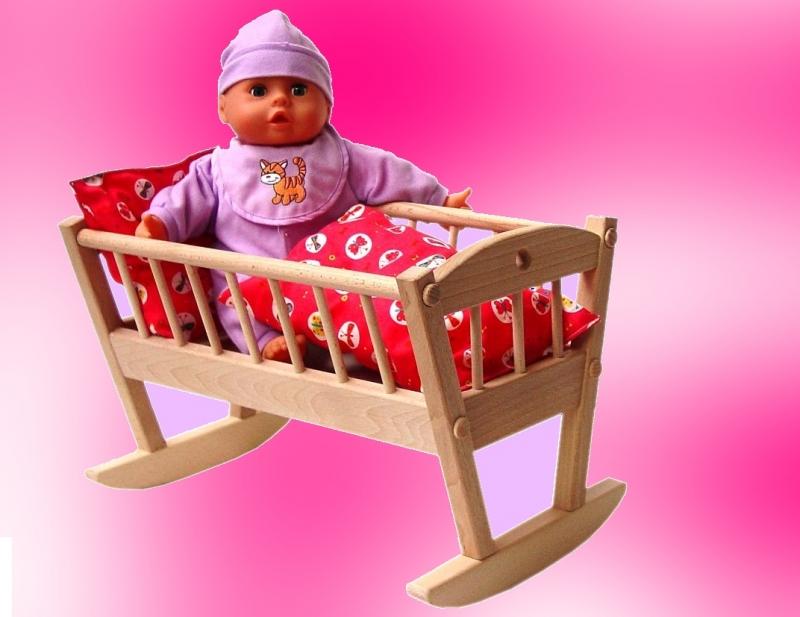 Wiege für Puppe – Holz, Spielzeug