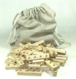 Faltwürfel aus Holz Holzspielzeug
