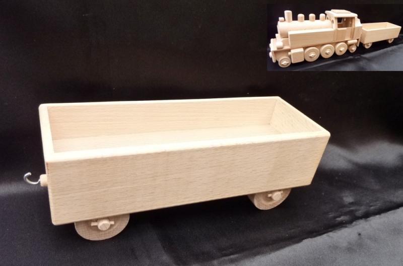 Anhängerwagen zur Lokomotive DR Holzspielzeug Geschenke für Lokführer