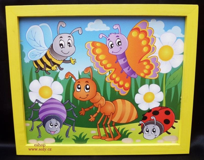 Märchenhafte Insekten Baby malte Bilder auf Kinderzimmer Biene, Schmetterling, Ameise, Marienkäfer – Sonnenschein
