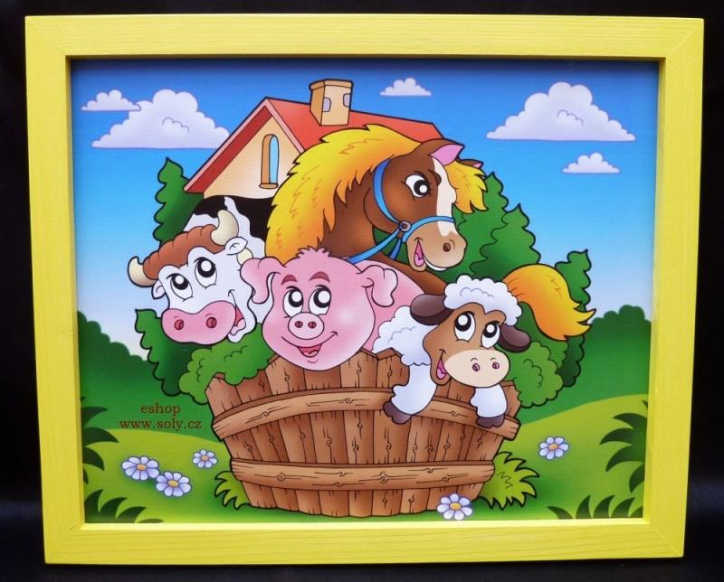 Kind malte Bilder Kuh, Schwein, Hobby, Schaf – Haustiere im Kinderzimmer