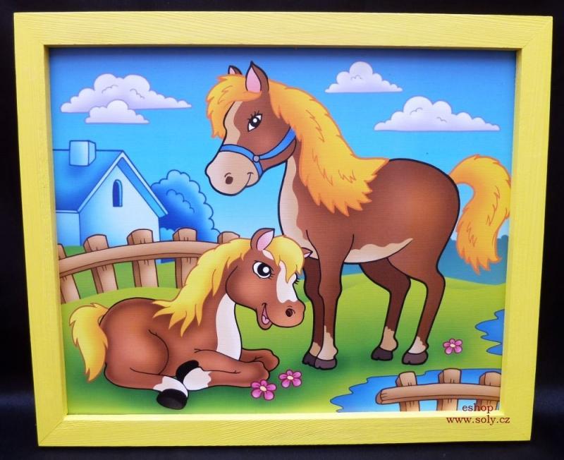 Pferd und Fohlen – Bild für Kinderzimmer