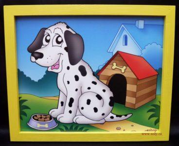 Hund, Hund, Hunde Kinderbilder an der Wand im Kinderzimmer