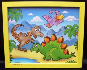 Prähistorische Tiere Baby malte Bilder an die Wand brontosaurus, tyranosaurus