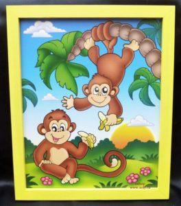 Affen, Affe Kinderbilder an der Wand
